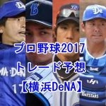 プロ野球トレードの噂2017【横浜DeNA編】注目選手を予想してみた