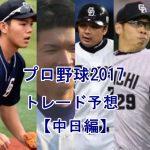 プロ野球トレードの噂2017【中日編】注目選手を予想してみた
