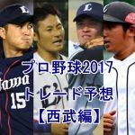 プロ野球トレードの噂2017【西武編】注目選手を予想してみた
