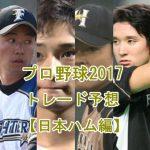 プロ野球トレードの噂2017【日本ハム編】注目選手を予想してみた