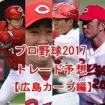 プロ野球トレードの噂2017【広島カープ編】注目選手を予想してみた