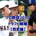 プロ野球2017ドラフト予想【西武編】候補選手をまとめてみた!