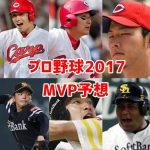 プロ野球MVP予想2017!セ・パの有力候補をまとめてみた!
