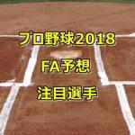 プロ野球FA予想2018!取得する注目選手の目玉をまとめてみた!