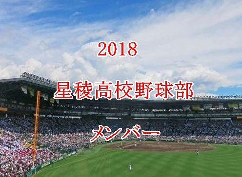 星稜高校野球部メンバー2018