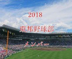 東邦野球部2018のメンバー