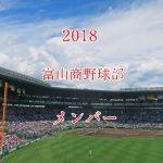 富山商業野球部2018のメンバー紹介!出身中学と注目選手に監督も