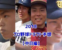 プロ野球ドラフト2018・中日