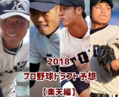 プロ野球ドラフト2018・楽天