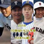 日本ハムドラフト予想2018!指名されそうな候補選手一覧