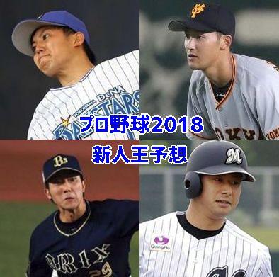 プロ野球新人王予想2018