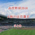 高校野球2018注目選手【大阪編】ドラフト評価のまとめ