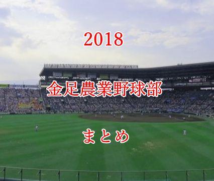 金足農業野球部メンバー2018