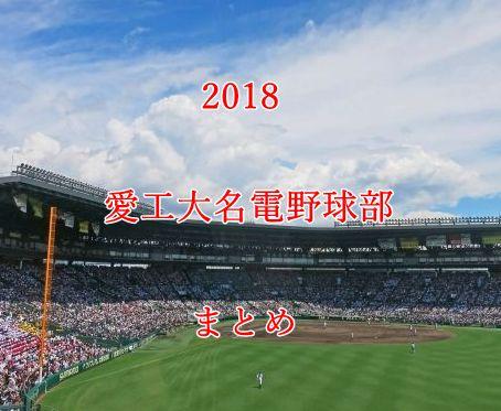 愛工大名電野球部メンバー2018