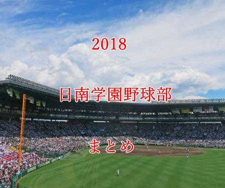 日南学園野球部メンバー2018