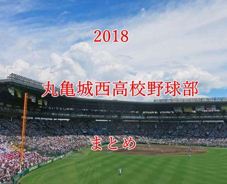 丸亀城西高校野球部メンバー