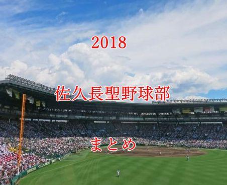 佐久長聖野球部メンバー2018