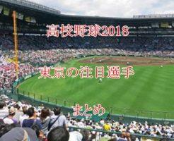 高校野球2018・東京の注目選手