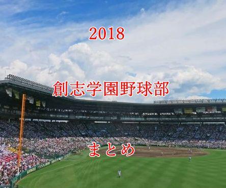 創志学園野球部メンバー2018