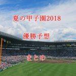高校野球・夏の甲子園2018の優勝候補・優勝予想【注目校を7選】