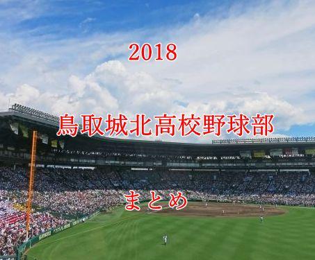 鳥取城北高校野球部メンバー2018