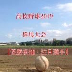 高校野球夏予選2019!群馬大会の強豪(優勝候補)と注目選手