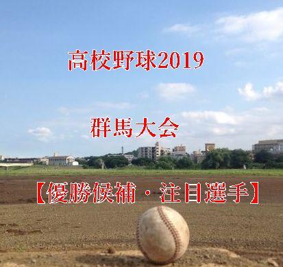 高校野球夏予選2019・群馬