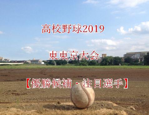 高校野球夏予選2019・東東京