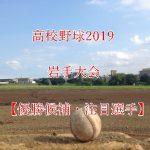 高校野球夏予選2019!岩手大会の強豪(優勝候補)と注目選手