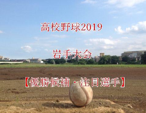 高校野球夏予選2019・岩手