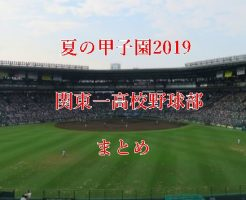 関東一高校野球部メンバー2019